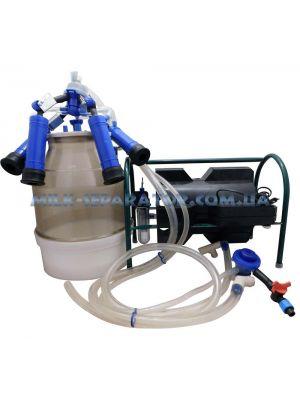 Доильный аппарат индивидуального доения Импульс ПБК-4 от 1-3 коров (ведро поликарбонат) 22 л